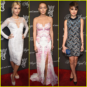 Hailey Baldwin & Gigi Hadid Stun & Support Cancer Research at Angel Ball 2014!