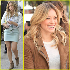 Hilary Duff Questions If She's Still Alive After a Long Day on Set