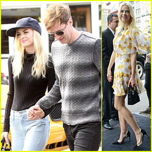 Jaime King & Husband Kyle Newman Show Some PDA in NYC