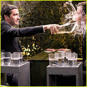Jake Gyllenhaal Gets Wet & Wild During Water Wars on 'Tonight Show' - Watch Now!