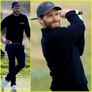 Jamie Dornan Plays a Round of Golf with Other Celebs - See the Action Shots!