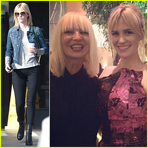 January Jones Weeps During Sia's Performance at Hammer Museum