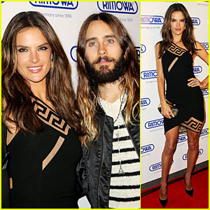 Jared Leto & Alessandra Ambrosio Show Off Their Long Hair at Rimowa Opening