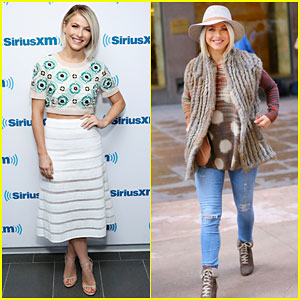 Julianne Hough Changes Three Times During Her Busy Day