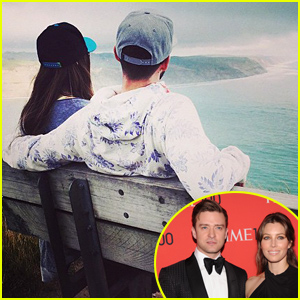 Justin Timberlake Cuddles Wife Jessica Biel in Rare Photo Together
