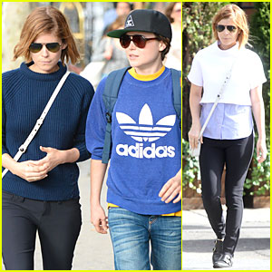 Kate Mara & Ellen Page Rock Different Shades of Blue During Hangout