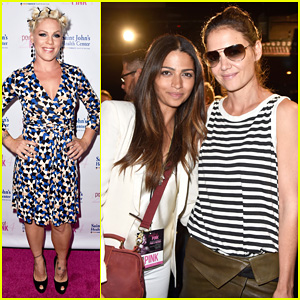 Katie Holmes & Camila Alves Support Cancer Prevention at Power