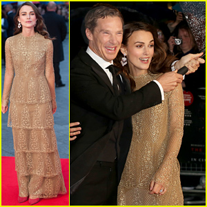 Keira Knightley & Benedict Cumberbatch Can't Stop Laughing at the Rain & Wind at 'Imitation Game' Premiere!