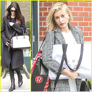 Kendall Jenner & Hailey Baldwin Enjoy Picking Apples on a Fall Day