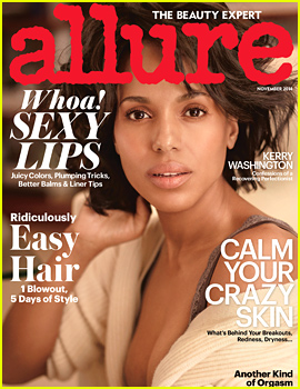 Kerry Washington Wears No Makeup & Looks Flawless for Allure's November 2014 Cover!