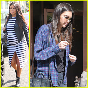 Kourtney Kardashian Brings Growing Baby Bump To Lunch With Kendall Jenner