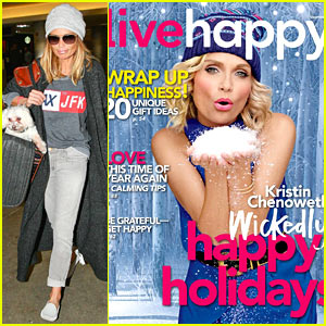 Kristin Chenoweth Gets Into Holiday Spirit for 'Live Happy' Mag