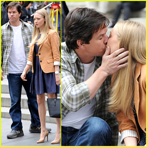Mark Wahlberg & Amanda Seyfried Kiss for 'Ted 2' NYC Scenes!