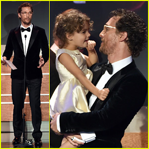 Matthew McConaughey Shares Adorable Moment with Daughter Vida at American Cinematheque Award Event!
