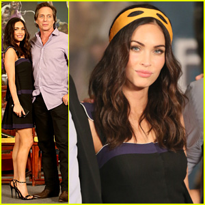 Megan Fox Wears Michelangelo's Mask at 'TMNT' Press Conference in China