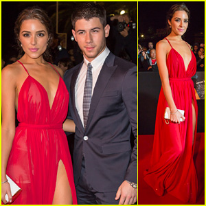 Nick Jonas & Girlfriend Olivia Culpo Heat Up The Red Carpet at Mipcom's Opening Night Party 2014!