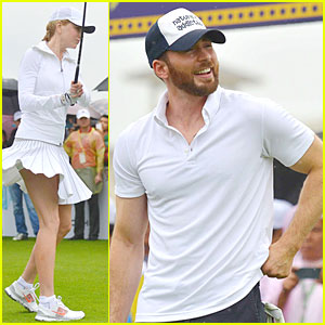 Nicole Kidman & Chris Evans Show Off Golf Swings at Mission Hills World Celebrity Pro-Am