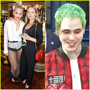 Rita Ora Brings Green Haired Boyfriend Ricky Hilfiger to Kate Moss Coupe Launch