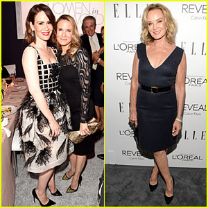 Sarah Paulson & Renee Zellweger Hang Out at Elle Women in Hollywood Celebration