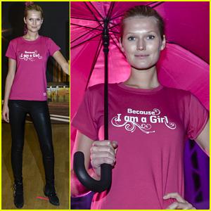 Toni Garrn Kicks Off International Day of the Girl Child in Berlin