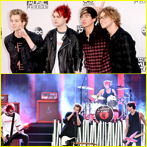 5 Seconds of Summer Wins Big After Performing 'What I Like About You' at American Music Awards 2014 - Watch Here!