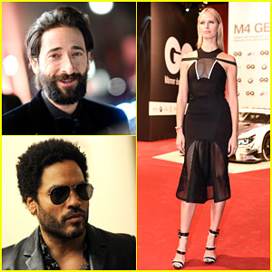Adrien Brody & Karolina Kurkova Celebrate at the GQ Men of the Year Awards