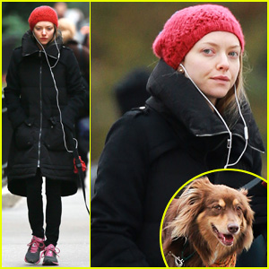 90512102889 Amanda Seyfried Takes Dog Walk After Hanging with Taylor Swift