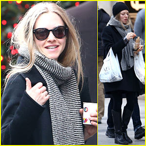 Amanda Seyfried Does as the Parisians Do & Snacks on a Baguette!