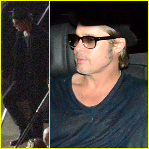 Brad Pitt Lands in Australia Ahead of Angelina Jolie's 'Unbroken' World Premiere!