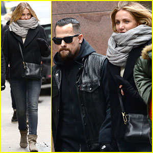 Cameron Diaz & Benji Madden Look So in Love Holding Hands in NYC