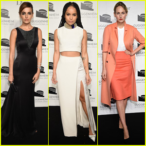 Camilla Belle & Zoe Kravitz are Gorgeous Ladies at Guggenheim International Gala Dinner 2014