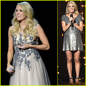 Pregnant Carrie Underwood Performs 'Something in the Water' at CMA Awards 2014