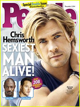 Chris Hemsworth Named People's Sexiest Man Alive 2014!