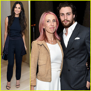 Demi Moore & Aaron Taylor-Johnson Celebrate The Launch of Rosetta Getty's Net-A-Porter Line!