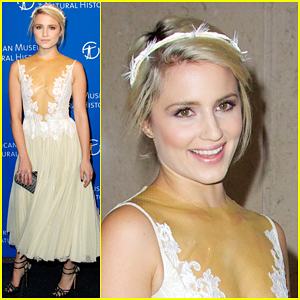 Dianna Agron Shows Off Some Skin in a Daring Dress at the Museum Gala 2014