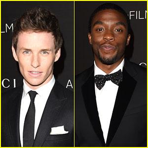 Eddie Redmayne & Chadwick Boseman Make it a Boys' Night at the LACMA Art + Film Gala