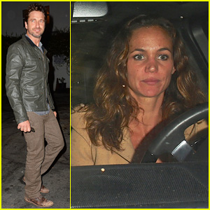 Gerard Butler Celebrates His 45th Birthday At The Little Door With Girlfriend Morgan Brown