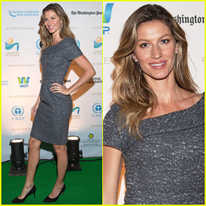 Gisele Bundchen Hits Washington In Style for UNEP's Earth Award Ceremony 2014!