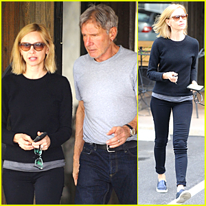 Harrison Ford & Calista Flockhart Celebrate Her 50th Birthday During Lunch