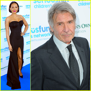 Harrison Ford & Mel B Have Some 'Serious Fun' in London