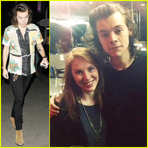 Harry Styles Poses with Directioners at Fleetwood Mac Concert