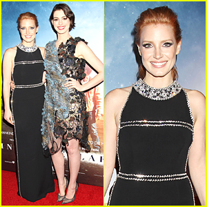 Jessica Chastain & Anne Hathaway Turn Heads at 'Interstellar' NYC Premiere