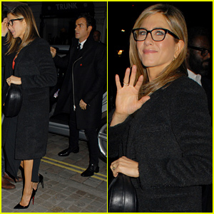 Justin Theroux Tags Along with Fiancee Jennifer Aniston for 'Horrible Bosses 2' After Party!