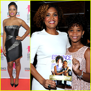 Annie's Quvenzhane Wallis & Keke Palmer Hit Up Essence Upfronts
