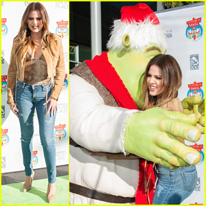 Khloe Kardashian Hugs Santa Shrek After Reportedly Getting Back Together with French Montana
