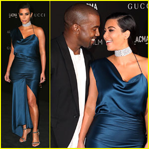Kim Kardashian & Kanye West Look at Each Other with Love at the LACMA Art + Film Gala