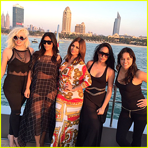 Kim Kardashian Rocks Bikini to Hang With Michelle Rodriguez on a Yacht in Dubai!