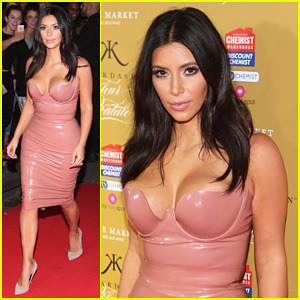 Kim Kardashian Rocks Pink Latex Dress at Her Fleur Fatale Frangrance Launch!