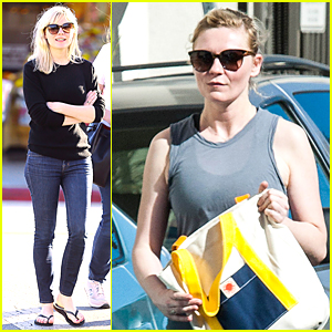 Kirsten Dunst keeps it cute and casual while grabbing a bite to eat on ...