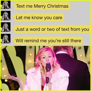 Kristen Bell Belts Out a New Modern Christmas Carol 'Text Me Merry Christmas' - Listen Now!
